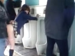 Japanese Student Angel  Public Crapper