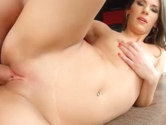 Sexy Laura has a hung guy giving her the fuck she's been waiting for