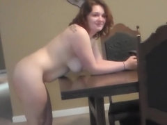 Curvy Gal Banged on the Dining Table