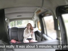 Hairy taxi customer gets cum in her muff pov