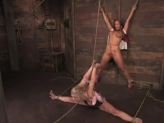 Samantha Sin and Trina Michaels Sharing the Hogtied experience never looked so good.