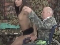 sexy horny woman seduces lucky older guy & rides his hard cock like a pro!!