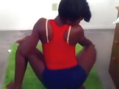 Homemade clip with my friend and me twerking our booties